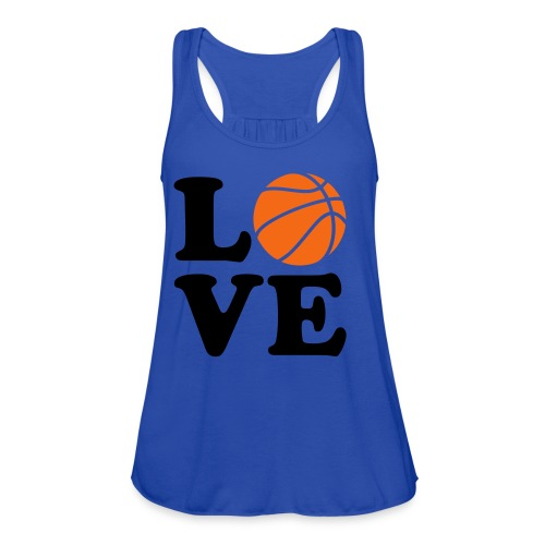 Love BasketBall  - Women's Flowy Tank Top by Bella