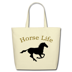 Horse life tote bag - Eco-Friendly Cotton Tote