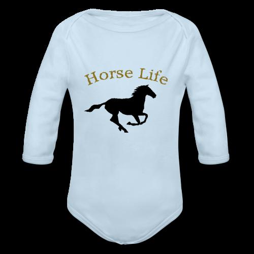 Horse life long sleeve body suite.  - Organic Long Sleeve Baby Bodysuit
