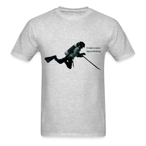 Vintage Spearfishing SCUBA Diver with Tank - Men's T-Shirt