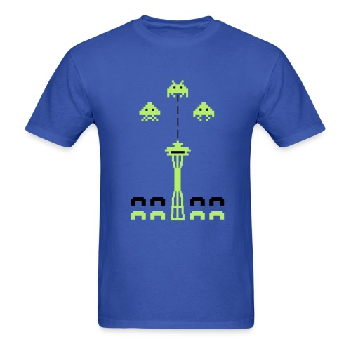 Space Needle Attack - Men's T-Shirt