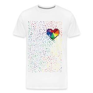colorful geometric heart Men's Premium T-Shirt - Men's Premium T-Shirt