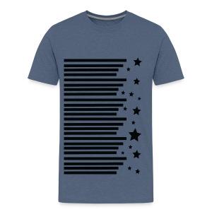 stripes stars pattern Men's Premium T-Shirt - Men's Premium T-Shirt