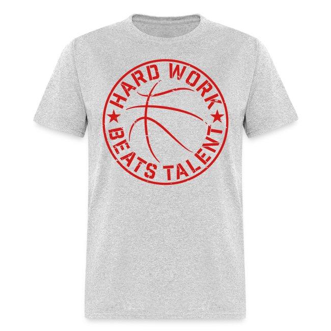 639127d5e82 Basketball Hard Work Beats Talent training shirt