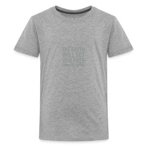 * The Truth Will Set You Free  ...from Religion * (velveteen.print)  - Kids' Premium T-Shirt