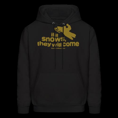 If It Snows - Metalic Gold - Men's Hoodie