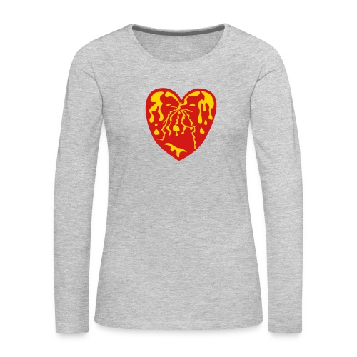 Throbbing Heart - Women's Premium Long Sleeve T-Shirt