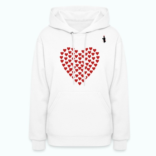 Ladies White TCB Valentines Hoody - Women's Hoodie