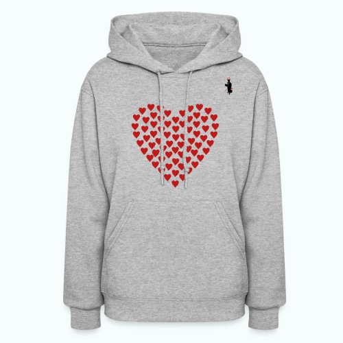 Ladies Gray TCB Valentines Hoody - Women's Hoodie
