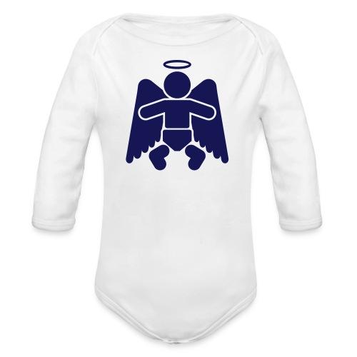 Little Angel - Boy - Organic Long Sleeve Baby Bodysuit