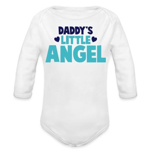 Daddy's Little Angel - Boys - Organic Long Sleeve Baby Bodysuit
