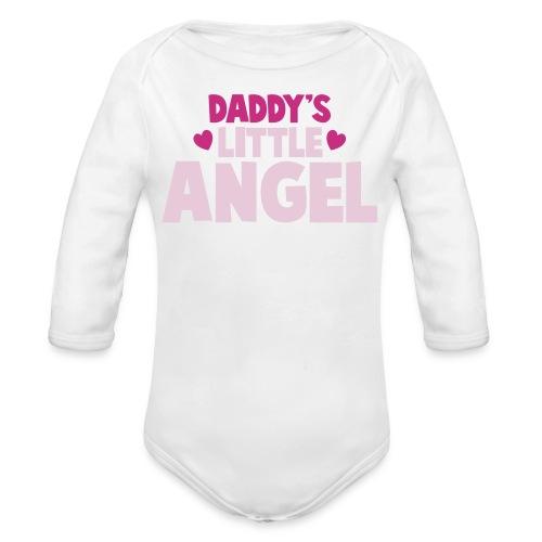 Daddy's Little Angel - Girls - Organic Long Sleeve Baby Bodysuit