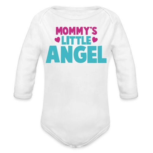 Mommy's Little Angel - Girls - Organic Long Sleeve Baby Bodysuit