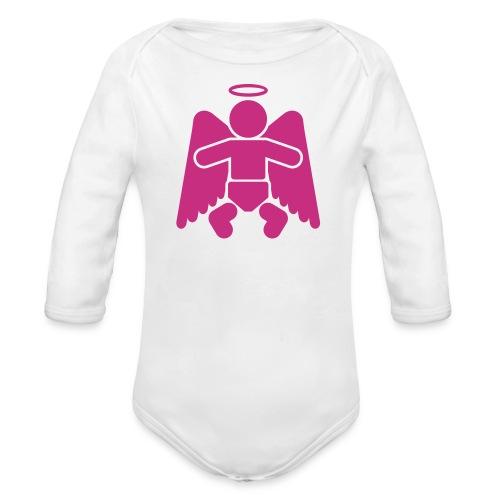 Little Angel - Girl - Organic Long Sleeve Baby Bodysuit