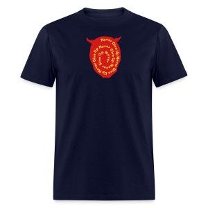 Never Give Up Devil - Men's T-Shirt