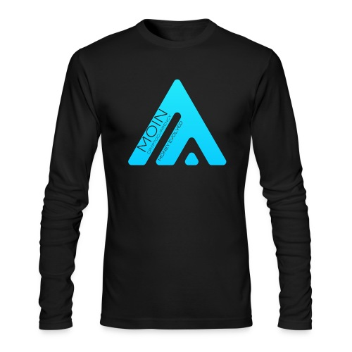 MOIN Man Black Long Sleeve T-shirt - Men's Long Sleeve T-Shirt by Next Level