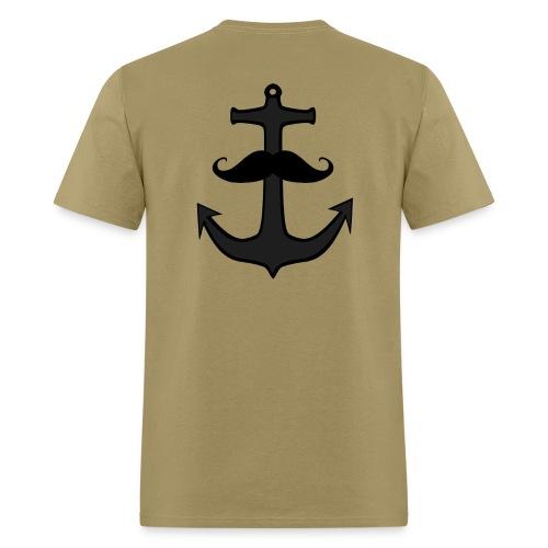 El Fish Anchor Stache Logo Shirt - Men's T-Shirt
