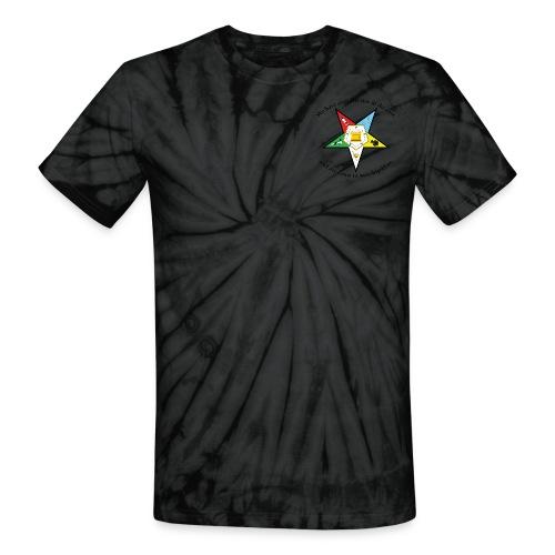 Eastern Star Tie Dye Tshirt - Unisex Tie Dye T-Shirt