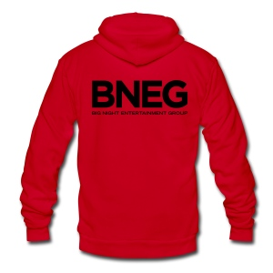 Big Night Zipper Hoodie - Unisex Fleece Zip Hoodie by American Apparel