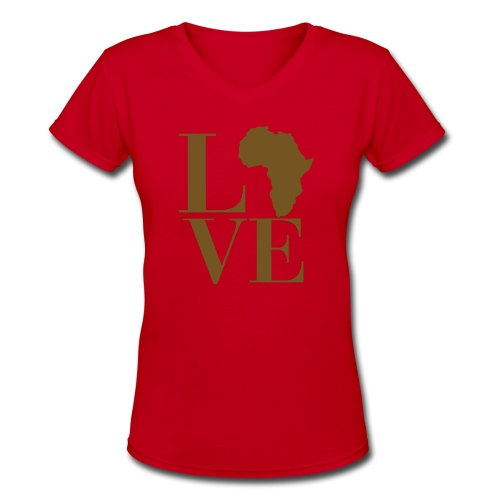Love Africa - Women's V-Neck T-Shirt
