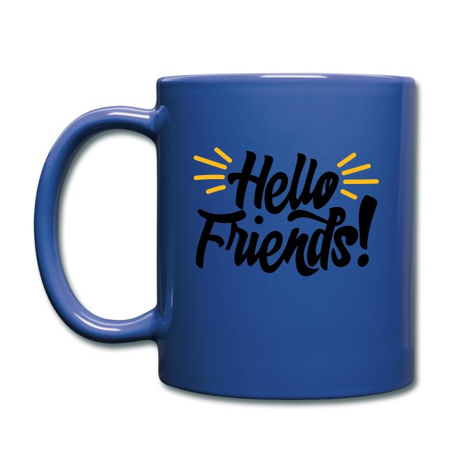 """Hello Friends!"" Color Coffee Mug"