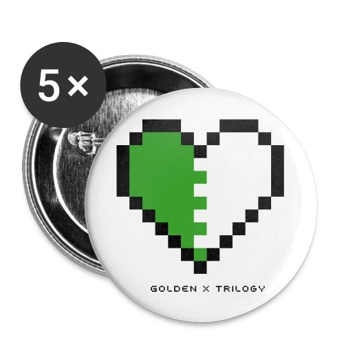 Golden x Trilogy Pin - Large Buttons