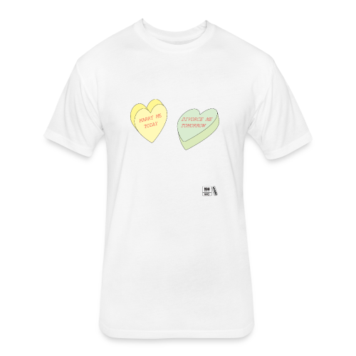 Candy Hearts NL - Fitted Cotton/Poly T-Shirt by Next Level