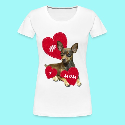 Miniature Pinscher Mother's Day  - Women's Premium T-Shirt