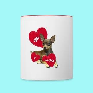 Miniature Pinscher Mother's Day  - Contrast Coffee Mug