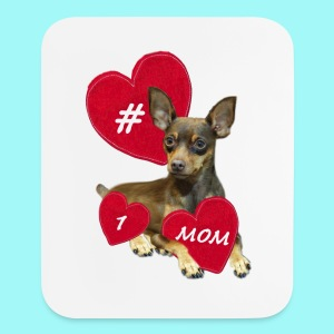 Miniature Pinscher Mother's Day  - Mouse pad Vertical