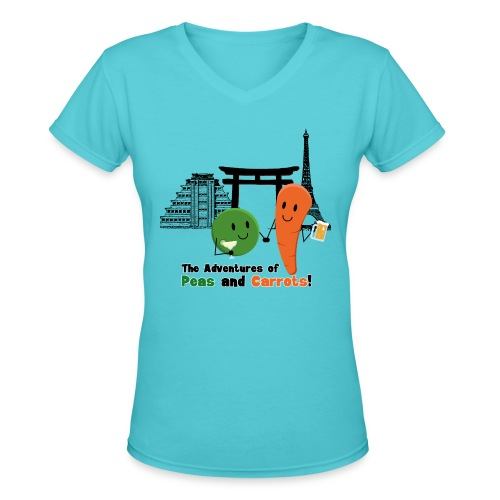 Drinks Around the World Peas and Carrots Women's V-neck T-shirt - Women's V-Neck T-Shirt
