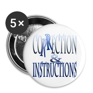 Correction & Instruction Button - Small Buttons