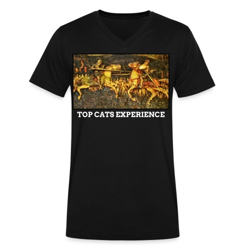 TOP CATS EXPERIENCE VNECK - Men's V-Neck T-Shirt by Canvas
