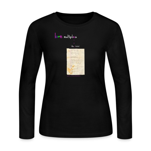 Love Multiplies Even When Divided ™BLK ©calilili™ allrightsreserved - Women's Long Sleeve Jersey T-Shirt