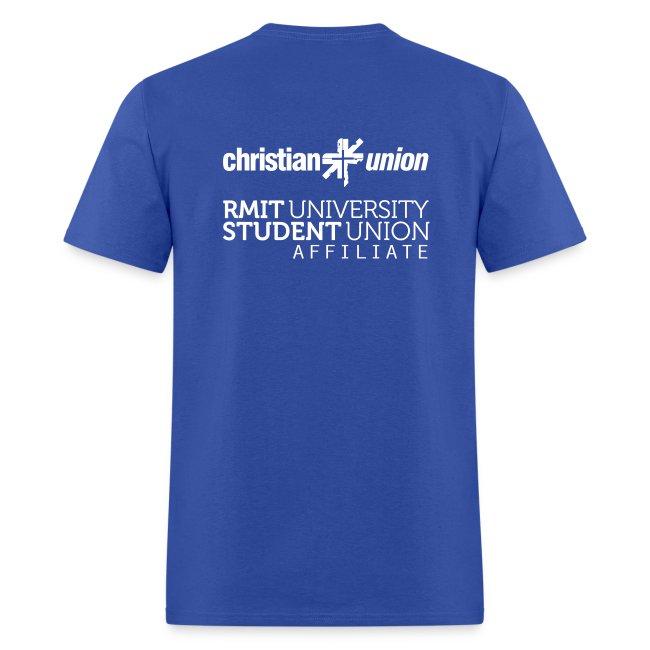 2018 CU stylised t-shirt, royal blue, white font