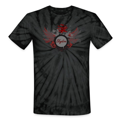 Uni Sex Sky Diving Tye-Dye  - Unisex Tie Dye T-Shirt