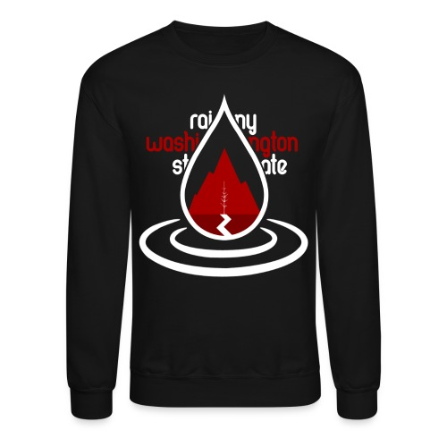 Raindrop Mountain Red Crewneck - Crewneck Sweatshirt
