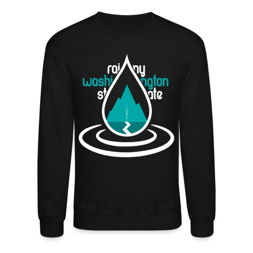 Raindrop Mountain Aqua Crewneck - Crewneck Sweatshirt