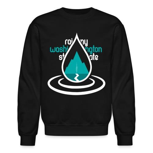 Raindrop Mountain Aqua Crewneck - Crewneck Sweatshirt