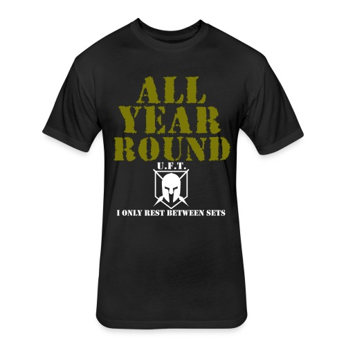 All Year Round (UFT) - Fitted Cotton/Poly T-Shirt by Next Level
