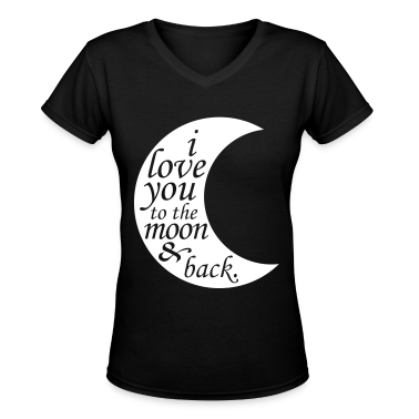 i love you to the moon & back Women's T-Shirts