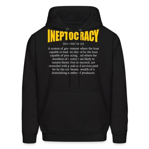 Ineptocracy Definition - Men's Hoodie
