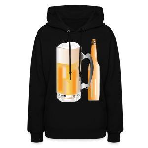 Beer Mug and Bottle (ADD CUSTOM TEXT) - Women's Hoodie