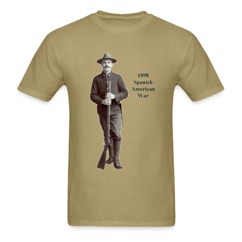 1898 Spanish American War Soldier with Springfield Rifle - Men's T-Shirt