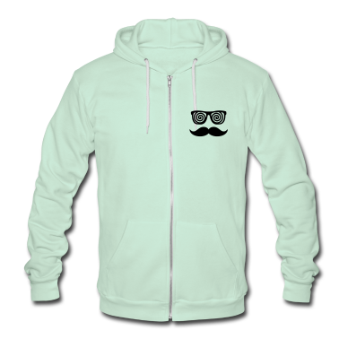 Anonymous confusing Moustache Zip Hoodies/Jackets
