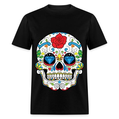 Sugar Skull With Diamonds Mens Shirt - Men's T-Shirt