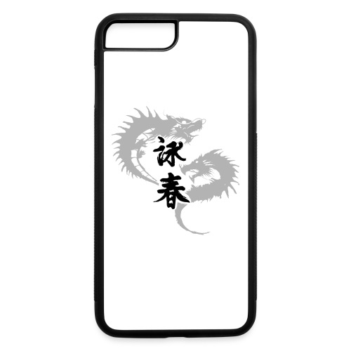 Gray wing chun dragons mobile case 2 of 6 - iPhone 7 Plus/8 Plus Rubber Case