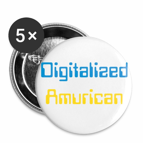 DIgitalized Amurican Button  - Large Buttons