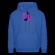 Hoodies ~ Men's Hoodie ~ Purple Music Emblem (Black) Hoodie