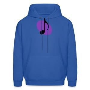 Purple Music Emblem (Black) Hoodie - Men's Hoodie